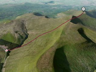 pen y fan route 3D