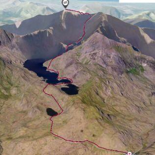 snowdon route 3D