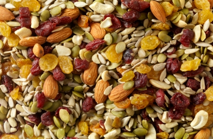 Cranberry and Almond Trail Mix -Photographed on Hasselblad H3D-39mb Camera