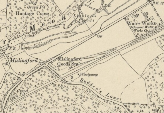 Starzina Z Railways Meon Valley Wickham Mislingford Goods Yard map mid 1900s