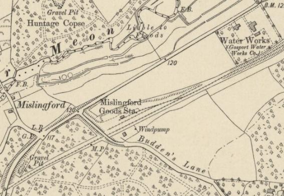 Starzina Z Railways Meon Valley Wickham Mislingford Goods Yard map mid 1900s