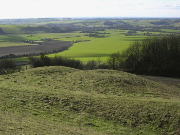 Double_round_barrow_on_Old_Winchester_Hill,_looking_down_into_the_Meon_Valley_-_geograph.org.uk_-_25001.jpg